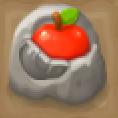 リンゴ入り岩