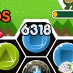ブロックをなぞったときにフィールド上に表示される点数