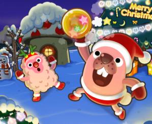 ポコパンクリスマスバージョンタイトル画面