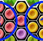 ペンキ使用でブロック色が変化