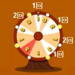 同じタイミングで「まわす」ボタンを押したときの当選倍率の回数分布