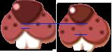 ナツポコとポコンプキンの顔を比較
