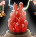 岩の色が赤