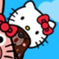 キティちゃんの帽子を被ったクマゴロウ